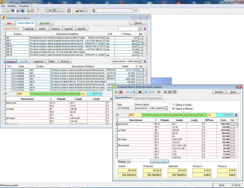 Preventivazione e computo metrico geo soft - Computo metrico per realizzazione di un bagno ...